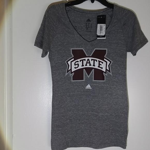 Medium NCAA Mississippi State Bulldogs Mens Tri Blend Short Sleeve Tee Maroon